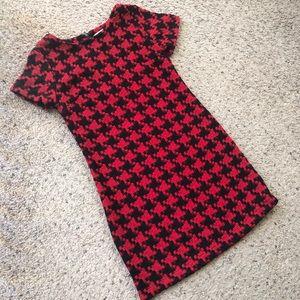 Xhilaration Black/red houndstooth mini dress, XS